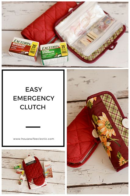 Housewife Eclectic: Easy Emergency Clutch. An easy to make catch all for all the little things you make need! #MoreMomentsWithExcedrin #Cbias #Ad