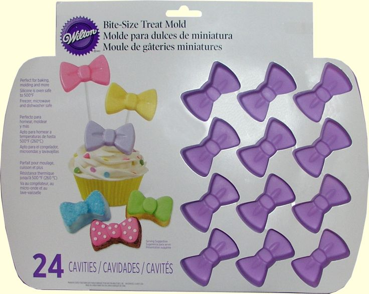 rubber bow tie Candy Molds | flexible silicone bakeware! Freezer, refrigerator, microwave and ...