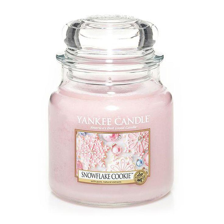 Yankee Candle - svíčka Snowflake Cookie střední   Svět bytových vůní
