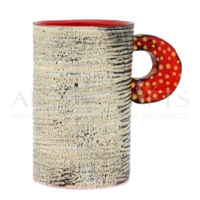 Κούπα Κεραμική Μακρόστενη Εκρού Σαγρέ. Αποκτήστε το online πατώντας στον παρακάτω σύνδεσμο http://www.artistegifts.com/koupa-keramiki-makrosteni-ekrou-sagre.html
