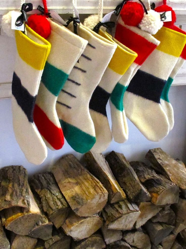 Christmas Stockings made from Hudson Bay Blankets