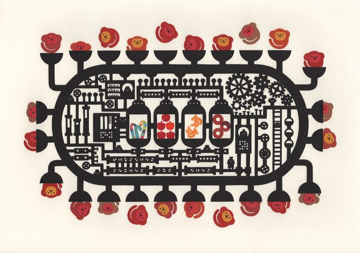 """""""Factory of the monkey"""" Paper cutting by chihiro takeuchi"""