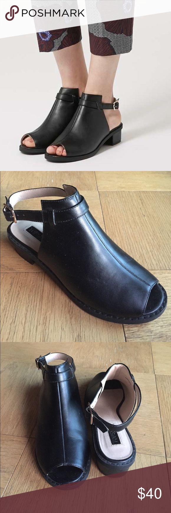 Black jelly sandals topshop - Topshop Black Sandals