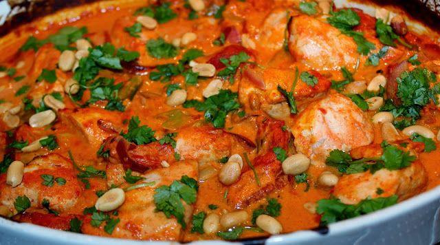 Monicas Matverden: Namnam-kylling i kokosmelk og curry