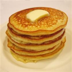 fluffy pancakes..... never use bisquick again!