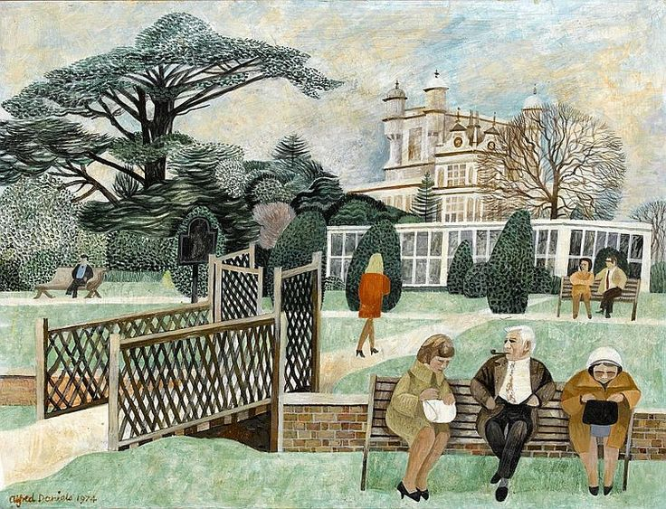 Alfred Daniels – THE CAMELIA HOUSE IN WOLLATON PARK, 1974, board, 38 x 49cm