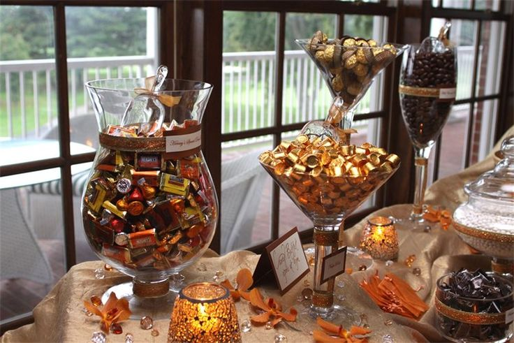 Our Fall Wedding Candy Buffet Cody Brittany Wedding