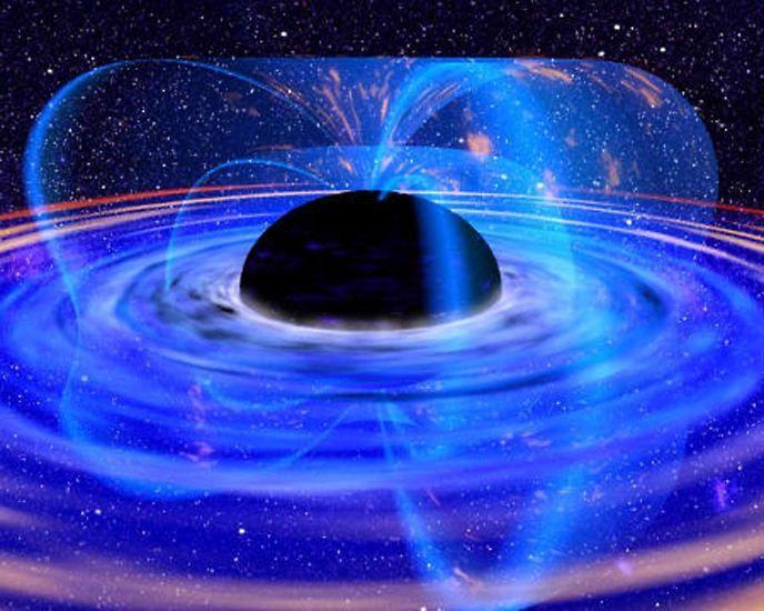 Ein Schwarzes Loch ist gar kein Loch. Mit Lücken oder Hohlräumen, wie sie uns aus dem irdischen Leben als Löcher bekannt sind, haben Schwarze Löcher nichts zu tun.