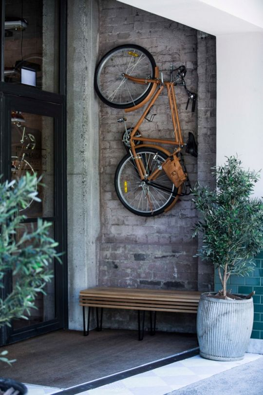 Exposed brick, both inside and out, creates an earthy, rustic feel. L'Americano Espresso Bar Sydney