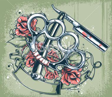 55 best knucks 39 images on pinterest tattoo ideas for Cut throat tattoo