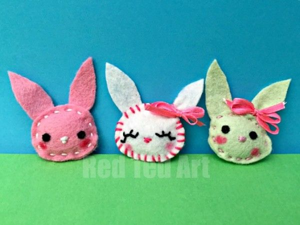 Easy Bunny Brooch - sewing for beginners - a lovely little Easter Craft