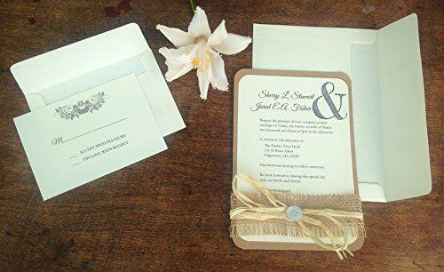 rustic wedding invitations| 4LOVEPolkaDots