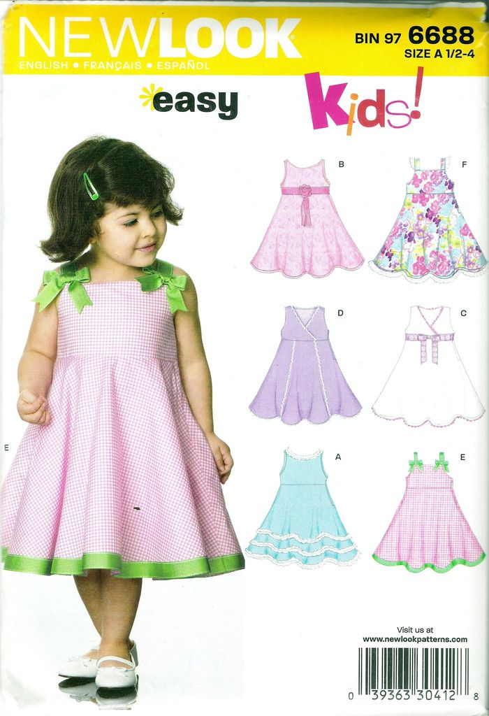 The 38 best New Look Girls\'/Toddlers\'/Babies\' Sewing Pattern ...