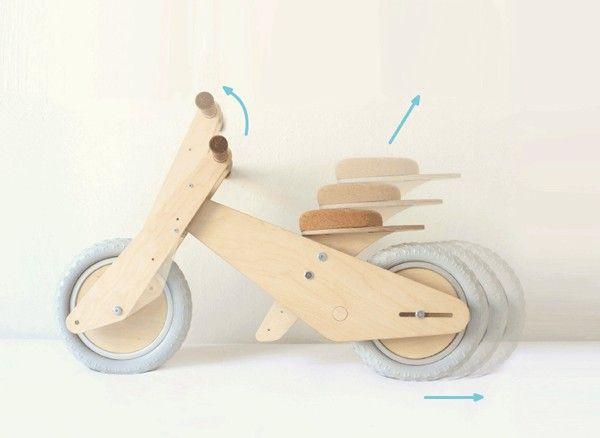B-kid, la bicicleta de madera que crece con el niño