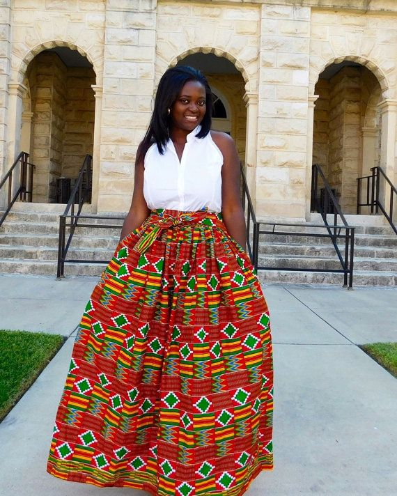 Hey, I found this really awesome Etsy listing at https://www.etsy.com/listing/215569481/new-kente-maxi-skirt-maxi-skirt-african