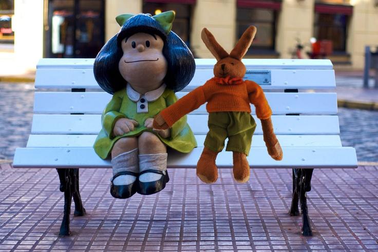 Argentina with Mafalda in Buenos Aires