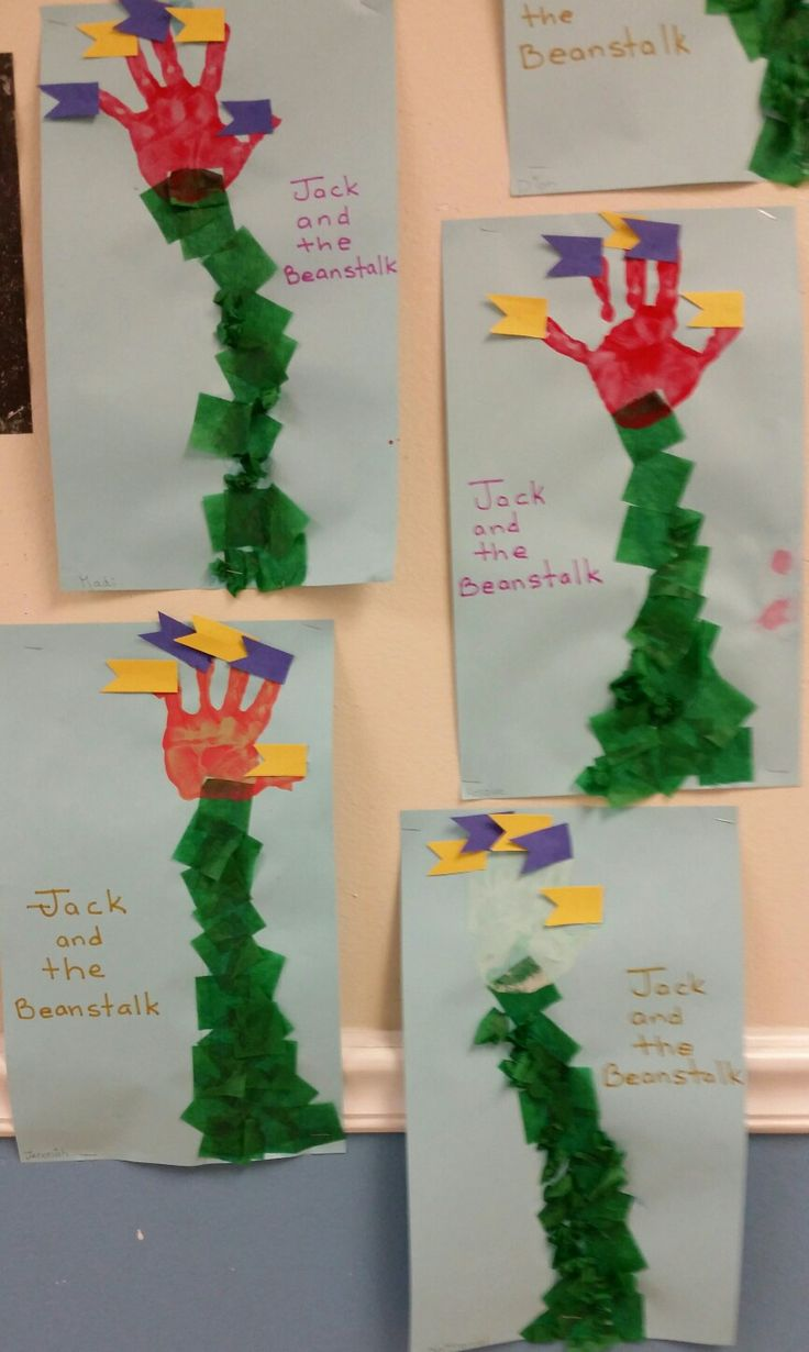 Preschool nursery rhyme craft. Jack and the Beanstalk. From the Firefly class.