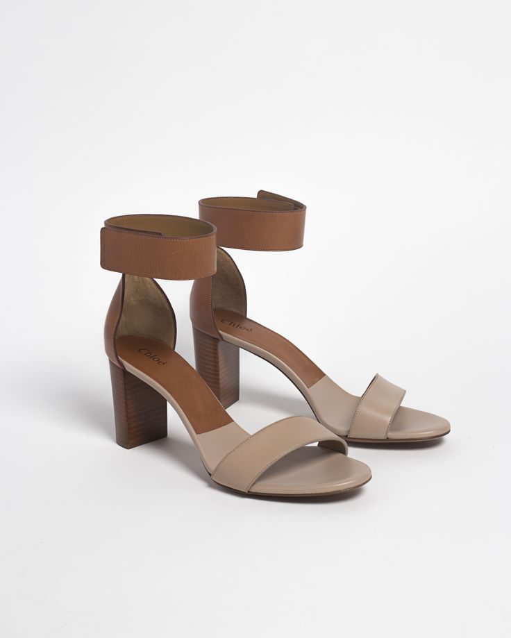 Chloé Gala Mid Heel Sandal