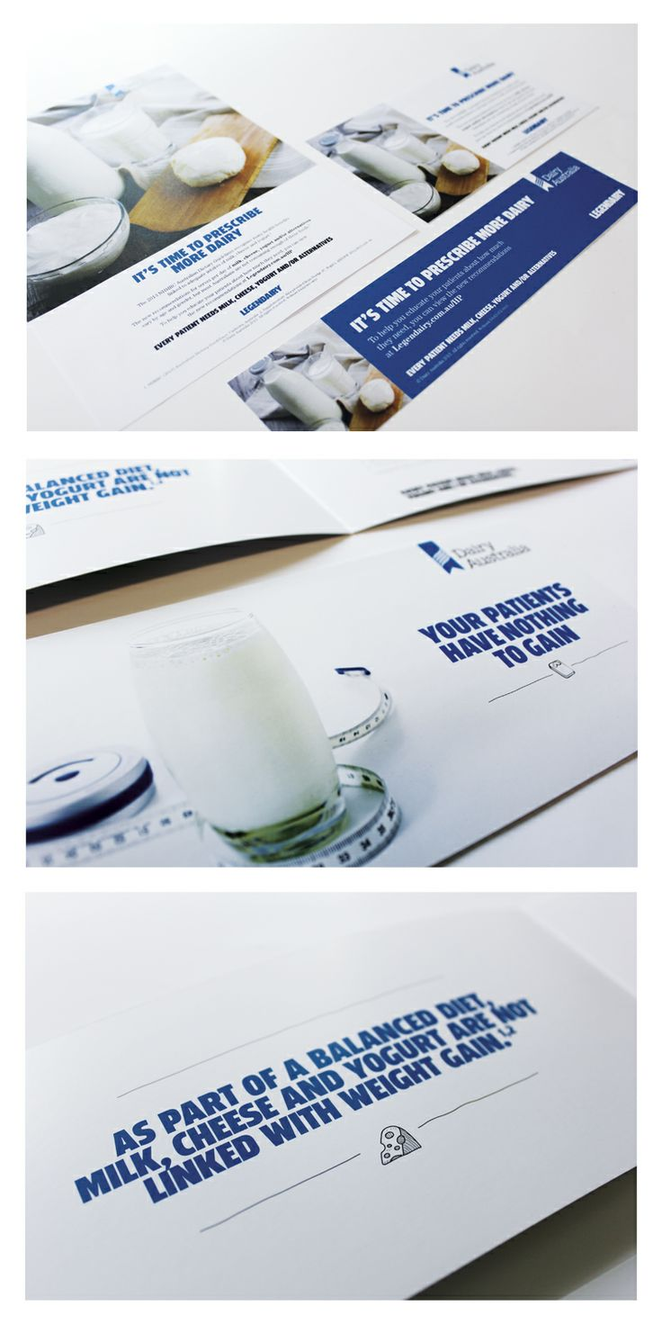 Agency: Wellmark | Client: Dairy Australia | Category: Health and Wellbeing | Channel: Brochures, DM | Audience: Doctors, Nurses, Medical Practitioners, Famliles