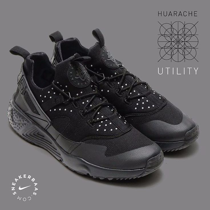 #nike #nikeair #nikeairhuarache #huarache #huaracheutility #sneakerbaas #baasbovenbaas  Nike Air Huarache Utility- The classic Huarache gets a not-so-classic makeover, providing the fashion-game with a new, fresh look on sneakers. A dotted pattern makes his way on the ''stealth'', black upper, leaving competitors in the dust!  Now online available! | Priced at 129.99 EU | Men Sizes 40.5 - 45 Eu