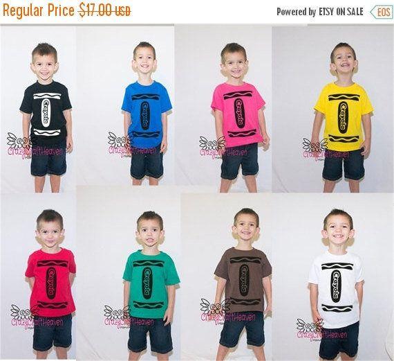 Crayon de traje, 2t-5t, traje Color, lindo traje, traje de bebé, traje de niño, traje de Crayola, color, traje de la escuela. camisa traje