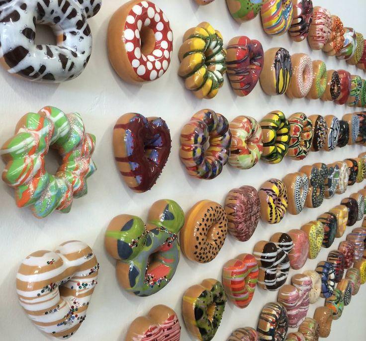'Doughnut Rush' Ceramic Sculptures by Jae Kim Yong - Lyons Wier Gallery via Art People Gallery.