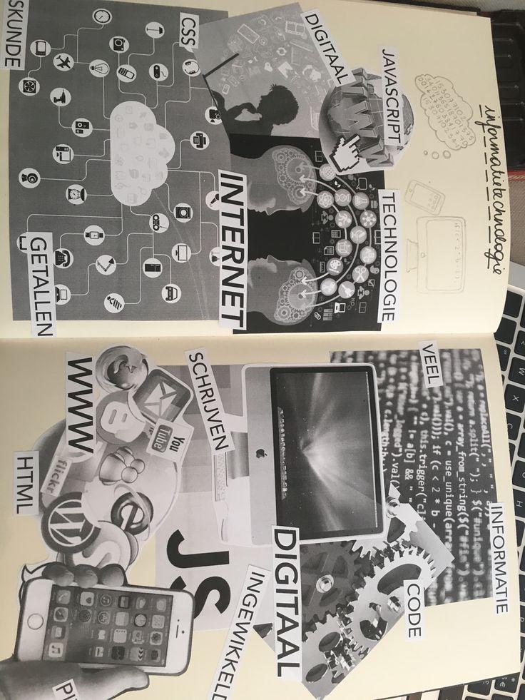 Onderzoek/collage informatietechnologie (zie schetsboek)
