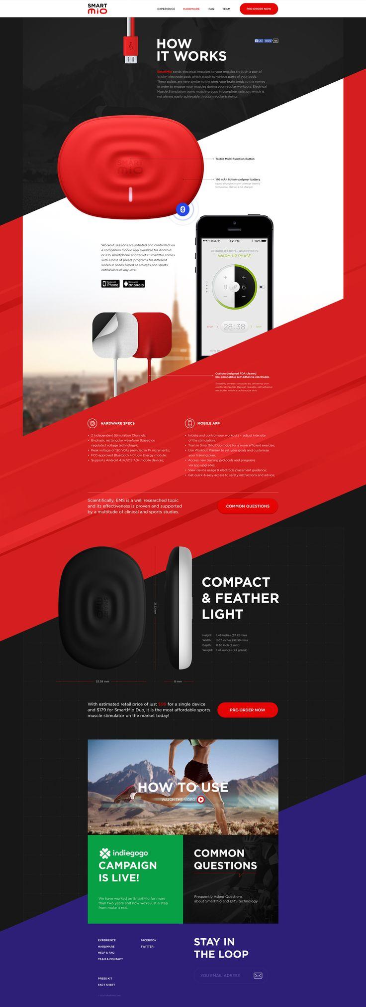 Unique Web Design, Smart Mio via @joanniecordeau #WebDesign #Design