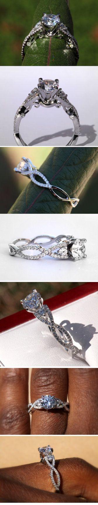PLATINUM Diamond Engagement Ring SETTING semi by BeautifulPetra, $1850.00 MostUniqueWeddingRings