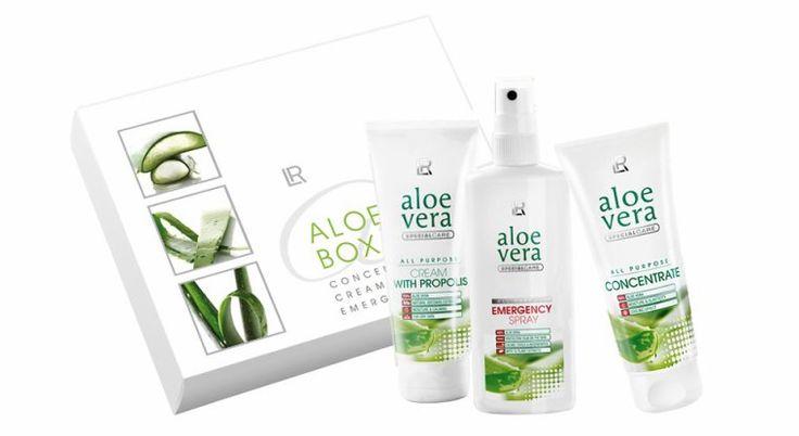 LR ALOE VERA BOX - Le remède miracle! Kit de 3 produits aux multiples effets sur votre peau - Info/commande: tel:07.82.56.17.54, e-mail: contact.lr@nails-papillons.com