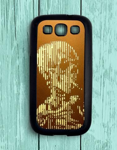 Smoking Skeleton Sillohuette Line Art Samsung Galaxy S3 Case