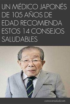 Un médico japonés de 105 años de edad recomienda estos 14 consejos saludables #salud