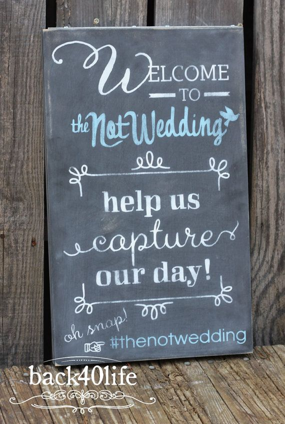 Wedding Welcome Hashtag Sign W 038