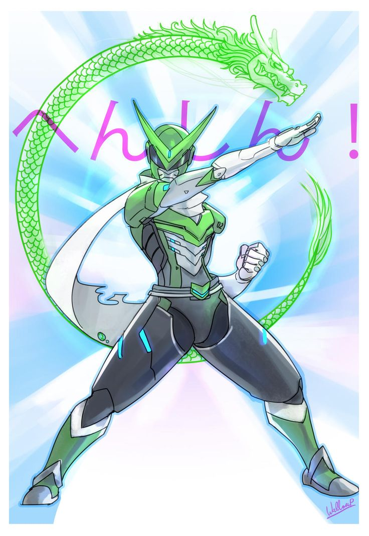 Kamen Rider Genji | Overwatch | Know Your Meme< his sentai voice lines sound like they could be from Gurren Lagann