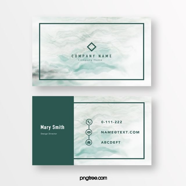 Green Minimalist Marble Background Business Card Colorful Business Card Simple Business Cards Business Card Template