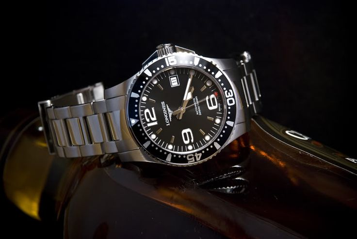 Longines Hydro Conquest Black Dial SS 41mm Automatic 300M