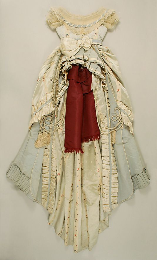 Silk ensemble with evening bodice (back), by Dupret, French, ca. 1867.