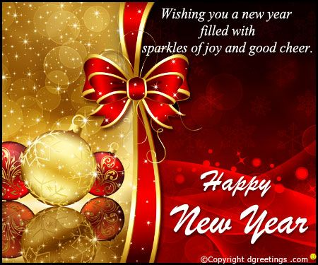 Dgreetings - Send heartfelt greetings and good wishes on this New Year by this Card.