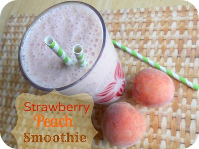The Better Baker: Strawberry Peach Smoothie (Healthy Choice)