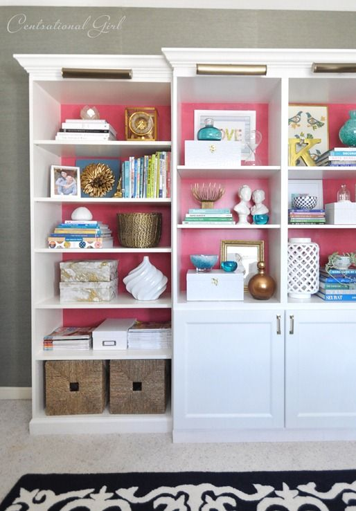 38 best images about IKEA shelving cabinet hacks BEST BILLY – Pink Bookcase Ikea