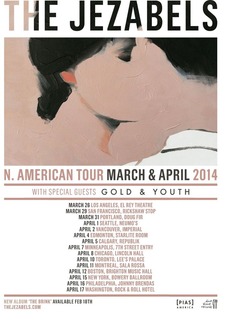 The Jezabels have announced a huge Spring North American headlining tour in support of their album, The Brink (out Feb 18).