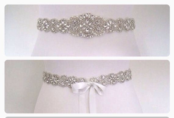 Crystal wedding belt sash wedding dress belt bridal by BridalStar