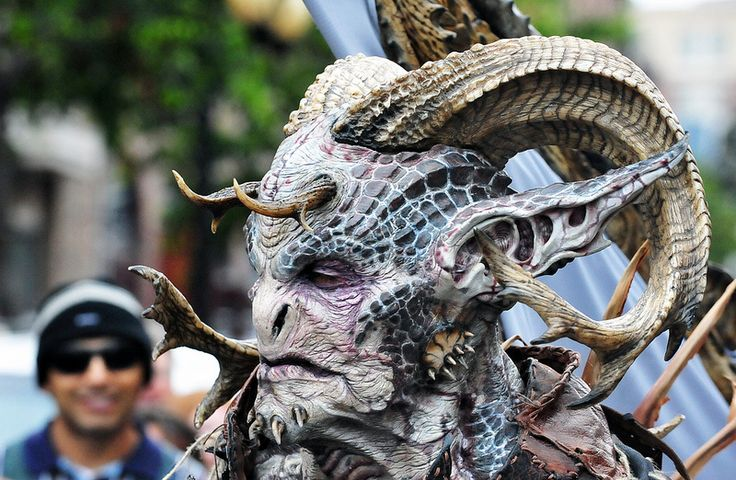 Incredible monster costume from the Cinema Makeup School
