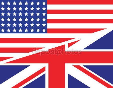 Scarica - Bandiera americana nel Regno Unito — Illustrazione stock #72705895