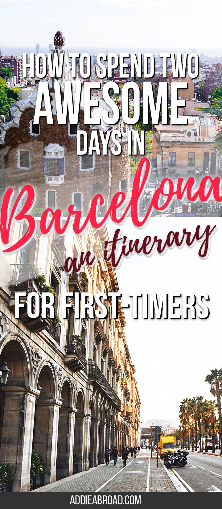 Barcelona is a big city, so there's a lot of ground to cover and a lot of amazing things to see. Here's an awesome itinerary that details how to spend the best 2 days in Barcelona. via @addieabroad