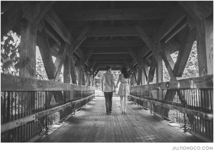 Jill Tiongco Photography | Naperville Engagement Photographer | Naperville Riverwalk | Karen + Garth