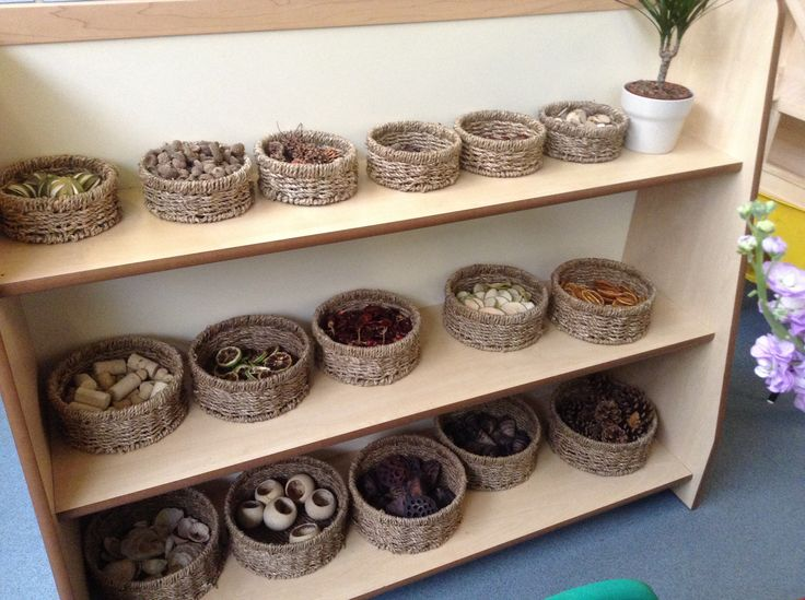 Natural resources available for the children to use for any activity they chose. Ideal for counting, sorting, patterns etc.