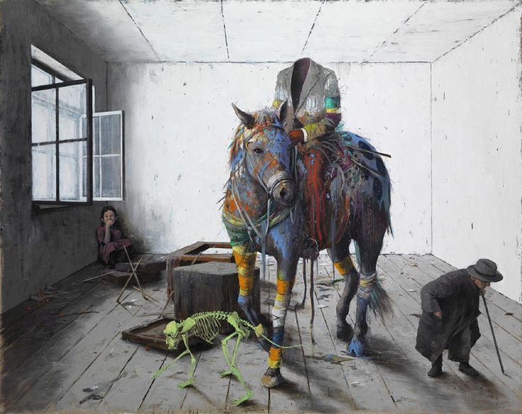 Jonas Burgert paintings