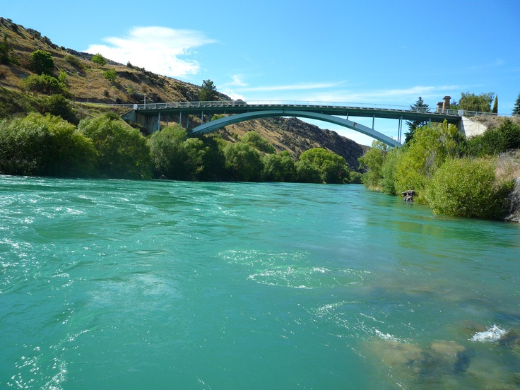 The Clutha Mata au River a powerful, beautiful river and such an amazing colour.