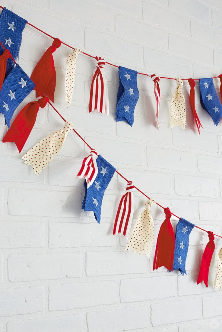 How to make a July 4th ribbon garland